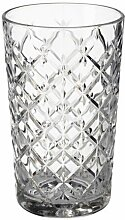 IKEA FLIMRA Glas aus Klarglas; gemustert; (42cl)