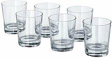 IKEA GODIS -Glas klar Glas / 6-Pack - 23 cl
