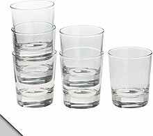 IKEA - GODIS Glas, Klarglas, H: 10,2 cm (X6)