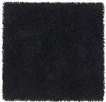 Ikea HAMPEN Teppich in schwarz; (80cm x 80cm);