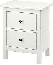 Ikea HEMNES Kommode mit 2 Schubladen; in weiß