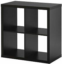 Ikea KALLAX Regal schwarzbraun; (77x77cm);