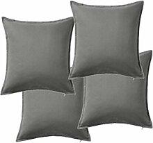 IKEA-- Kissenhülle, grau-50x 50cm, grau,