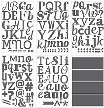 IKEA KLÄTTA Aufkleber Buchstaben in grau; 6 Bögen