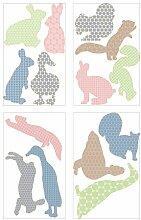 Ikea KLÄTTA Aufkleber Springende Tiere