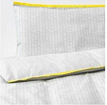 Ikea Klammig 4-teiliges Bettwäsche-Set für