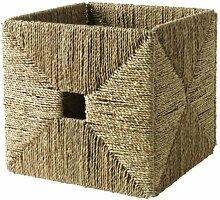 IKEA KNIPSA Box handgeflochtener Korb aus Seegras