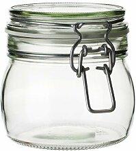 IKEA KORKEN Dose mit Deckel; aus Klarglas; (0,5l)