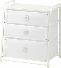 Ikea LOTE Kommode mit 3 Schubladen; in Weiß;