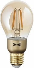 IKEA LUNNOM LED-Lampe in braun; Klarglas;