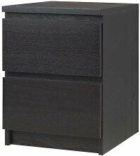 Ikea MALM Kommode mit 2 Schubladen; in schwarzbraun