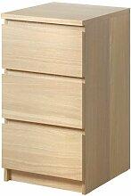 Ikea MALM Kommode mit 3 Schubladen; Eichenfurnier;