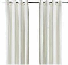 IKEA MERETE - Curtains, 1 pair, bleached - 145x300