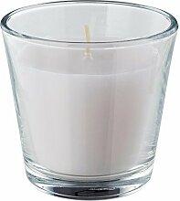 IKEA OMTALAD - Duftkerze im Glas, weiß
