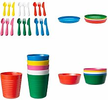 Ikea Plastikbesteck mit Kalas, Messern, Gabeln,
