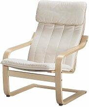 Ikea POANG Stuhl Sessel mit Kissen, Abdeckung und