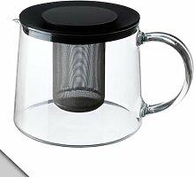 IKEA RIKLIG Teekanne, 1,6 l, Klarglas und