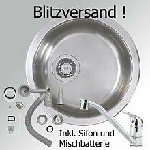 IKEA Rundspüle BOHOLMEN + Mischbatterie + Zubhör