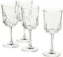 IKEA SÄLLSKAPLIG Weinglas Klarglas/gemustert