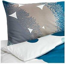 IKEA Satin Bettwäsche Garnitur BOLLTISTEL blau in