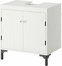 IKEA SILVERÅN Waschbeckenunterschrank in weiß;