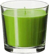 IKEA SINNLIG Duftkerze im Glas in grün; Saftiger