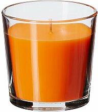 IKEA SINNLIG - Duftkerze im Glas, Sonne Tangerine,