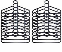 IKEA SPRUTTIG Kleiderbügel in schwarz; 20 Stück