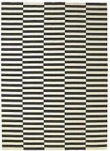 Ikea Stockholm Teppich in schwarz/weiß; flach