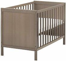 Ikea SUNDVIK Kinderbett, grau-braun, 60 x 120 cm