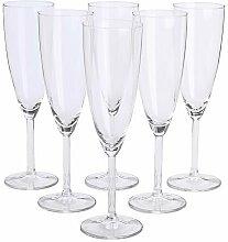 IKEA Svalka Champagnerflöte Glas, 6 Stück