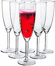 IKEASvalka Champagnerflöten, Glas, klar, 6