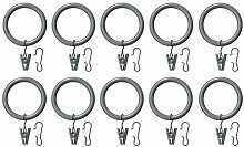 IKEA SYRLIG - Curtain ring with clip and hook,