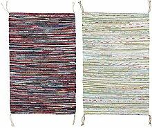 IKEA TANUM -Flachgewebte Teppich farblich sortiert