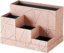 Ikea TJENA Schreibtisch Organizer Pink Schwarz