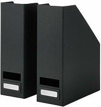IKEA TJENA Zeitschriftensammler in schwarz; 2