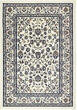 Ikea VALLÖBY Kurzflor Teppich in beige/blau;