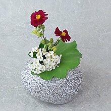 Japanische Blumenvase NAGASHI hergestellt in Japan Ikebana Vase Schwarz