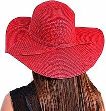 iKulilky Damen Floppy Strohhut faltbarer Sonnenhut Strohhut Sonnenschutz breite Krempe Sommerhüte Strand Hut Visier Hat Cap für Outdoor-Aktivitäten