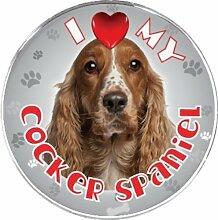 ileesh I Love My Cocker Spaniel Reflektierende