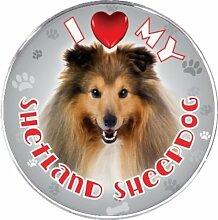 ileesh I Love My Shetland Sheepdog Reflektierende