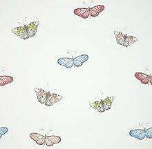 iLiv Schmetterling Flexo Tapete, blau