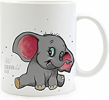 ilka parey wandtattoo-welt® Tasse Becher Elefant