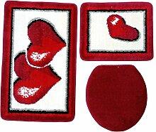 Ilkadim Badgarnitur 3-teilig rot weiß, Motiv