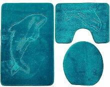 Ilkadim Delphin Badgarnitur 3 TLG. Set 55x85 cm