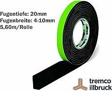 illbruck Profi Fugen Kompriband TP610 illmod eco BG1 Größe 20/4-10 Rolle 5,60 m anthrazi
