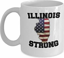 Illinois State Kaffeetasse - Porzellan Weiß