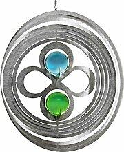 Illumino Edelstahl-Windspiel Kreis liegende Acht