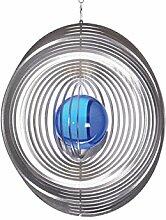 Illumino Edelstahl-Windspiel Kreis Maxi XXL mit