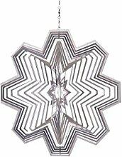Illumino Edelstahl-Windspiel Kristall